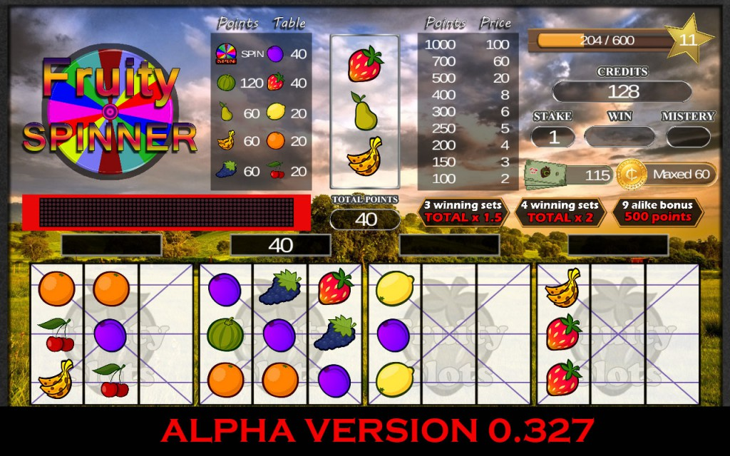 Fruity slots alpha picture