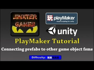 Unity Playmaker Connecting prefab fsms to scene fsms