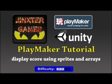 Unity Playmaker : Display Score using sprites and arrays