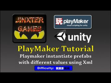 instantiate prefabs with different values using Xml