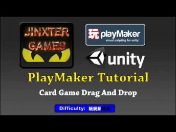 Unity Playmaker Card Game Drag And Drop